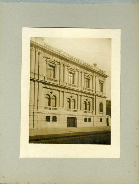 Fachada lateral, Alameda esquina Almirante Barroso
