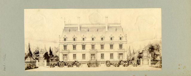 Dibujo de fachada