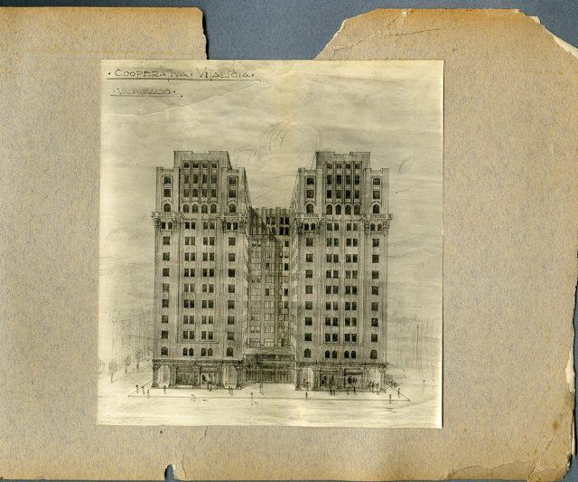 Dibujo, edificio «Cooperativa Vitalicia»
