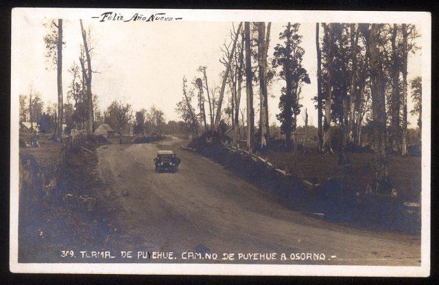 Termas de Puyehue. Camino de Puyehue a Osorno.