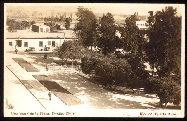 Una parte de la Plaza. Ovalle, Chile