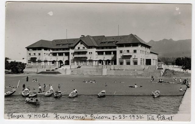 Playa y hotel «Turismo», Pucón.