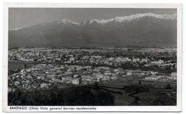 Santiago (Chile) Vista general barrios residenciales.