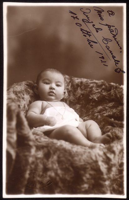 Retrato de un bebé.