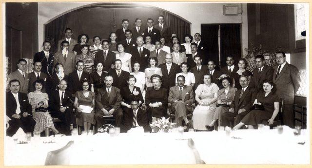 Grupo durante una celebración.