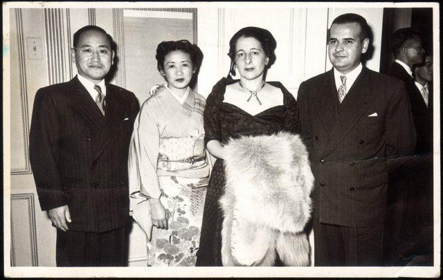 Recepción a la Legación de Japón.