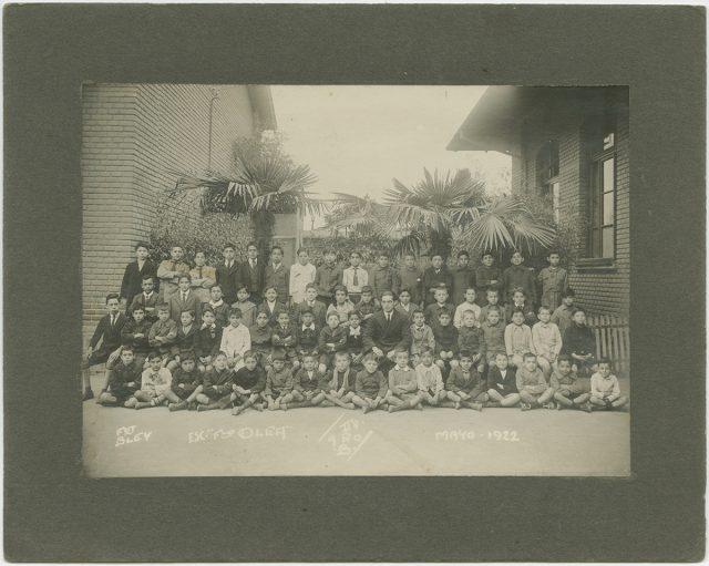Retrato de un grupo escolar