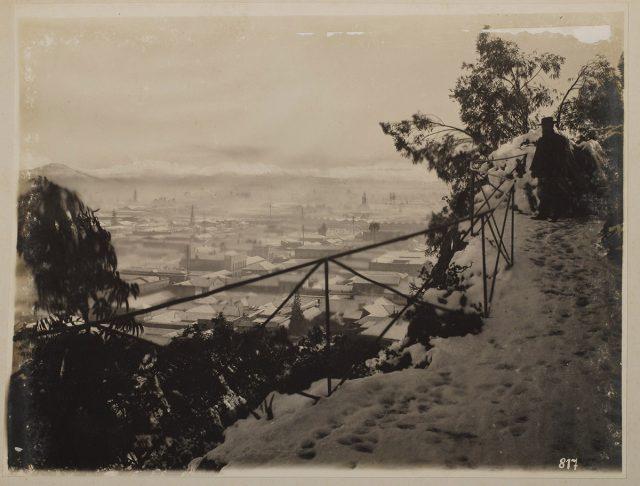 Vista de Santiago desde el Cerro Santa Lucía
