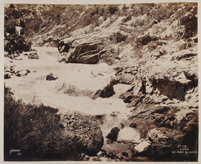 Puente del Diablo, Río Maipo
