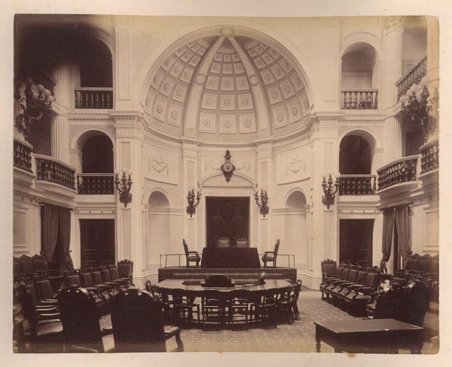 Interior de la Cámara de Diputados, Santiago