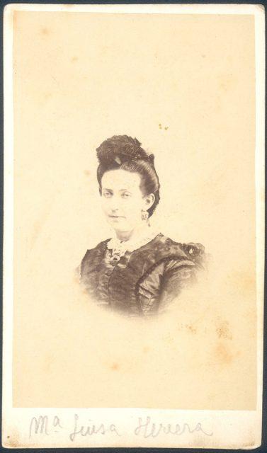 Retrato de María Luisa Herrera.