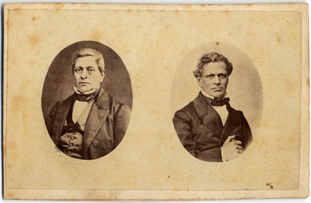 Retratos de Manuel Montt y Antonio Varas