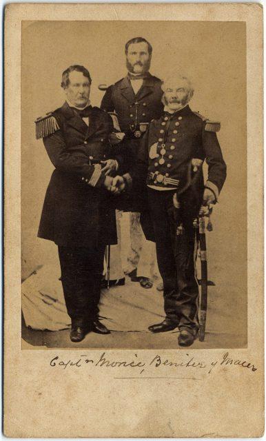 Retrato de los capitanes Morice, Benítez y Macer