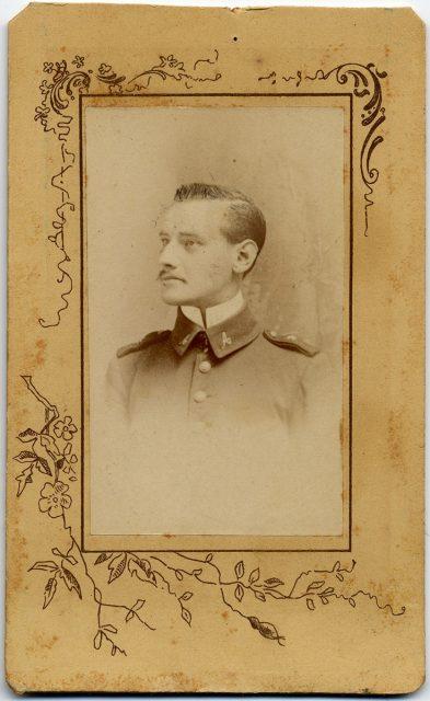 Retrato de un oficial.