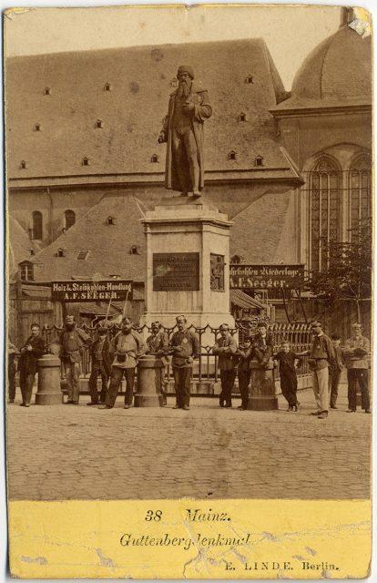 Vista de un monumento en Mainz
