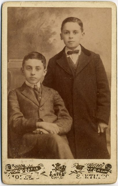 Retrato de Gonzalo y Alfonso de la Barra Pérez Canto.