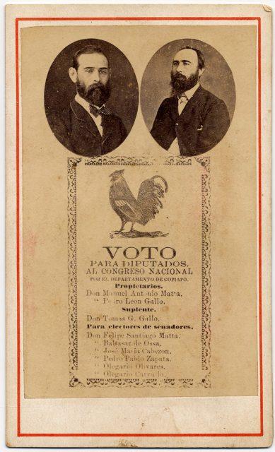 Propaganda política para Manuel Antonio Matta y Pedro León Gallo