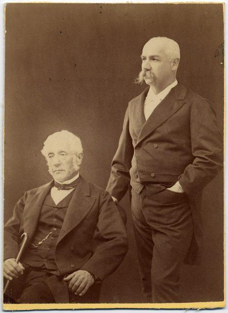 Retrato de Benjamín Vicuña Mackenna y su padre, Pedro Félix Vicuña Aguirre