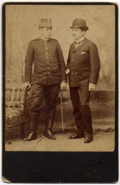 Retrato de Arturo y Manuel Santa María Arias.
