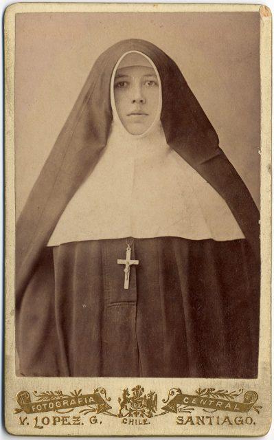 Retrato de Sor Mónica de la Trinidad Saa