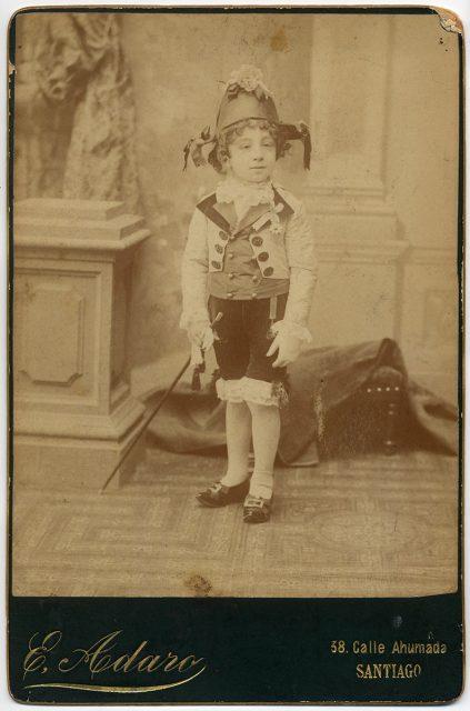 Luis Barros Valdés disfrazado.