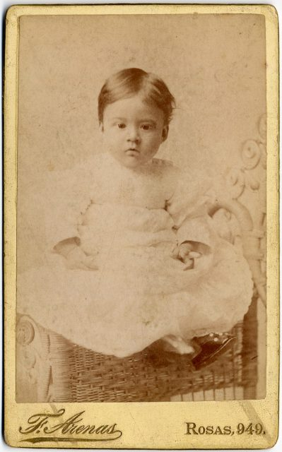Retrato de Ramón Luis a los 8 meses de edad.