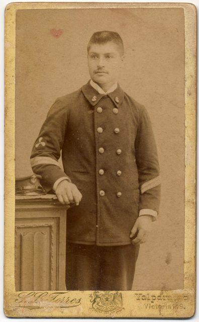Retrato de un sub-oficial de la Marina