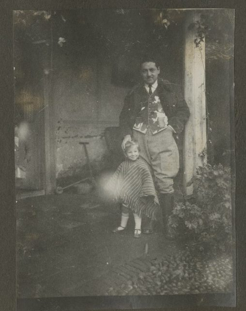 Guillermo Erwig y su hijo Fausto. Fundo La Huerta, Molina