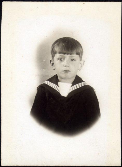 Miguel O. Rojas Jarrabrón de niño