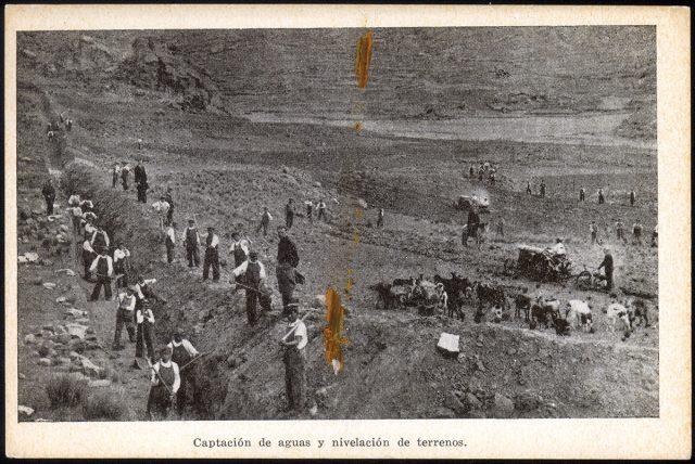 Captación de aguas y nivelación de terrenos.