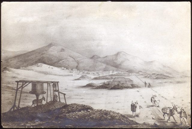 Vista general del antiguo mineral de plata de «Tres Puntas»