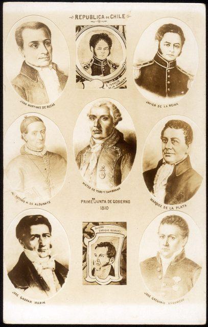 Retratos de los miembros de la Primera Junta de Gobierno de Chile (1810)