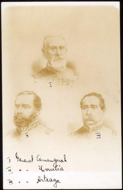Retratos de los Generales Amengual, Urrutia y Artega
