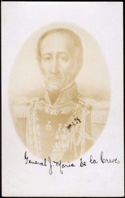 Retrato del General José María de la Cruz