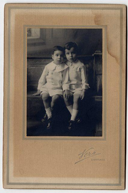 Retrato de los hermanos Pedro y Lorenzo Carrera Ibarra
