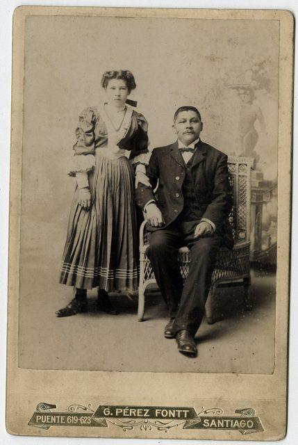 Retrato de Julio Cisternas y María Luisa Portales de Cisternas