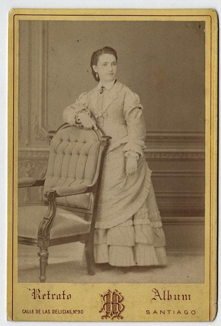 María Luisa Savagnac a los 18 años