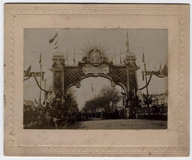 «Arcos que se hicieron en el Centenario de Chile 1810-1910»