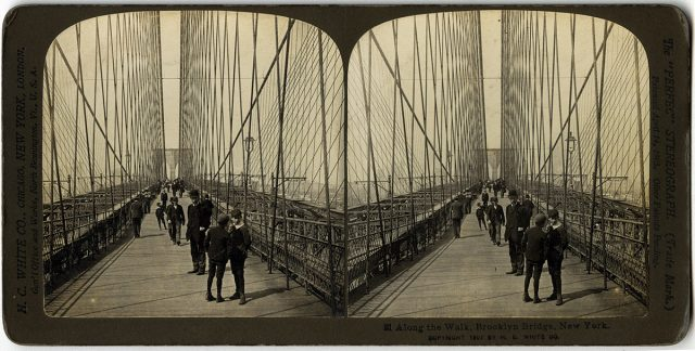 «Along the Walk, Brooklyn Bridge, New York»