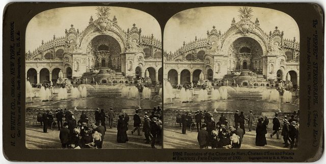 «Fountains of the Champs de Mars, Chateau d'Eau and Palace of Electricity, Paris Exposition of 1900»