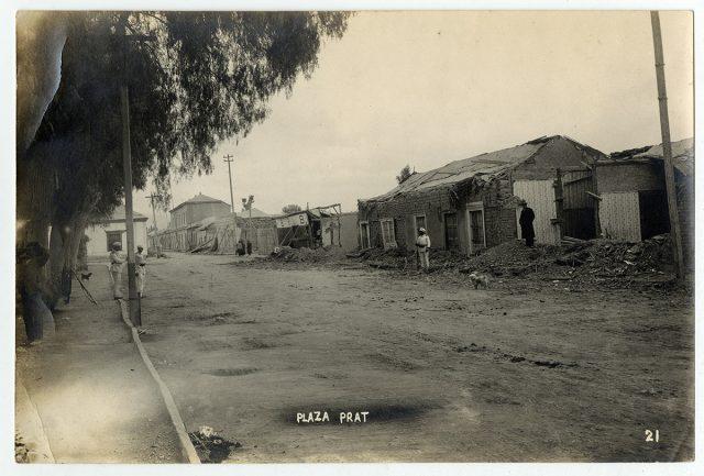 Plaza Pratt en Copipó después del terremoto