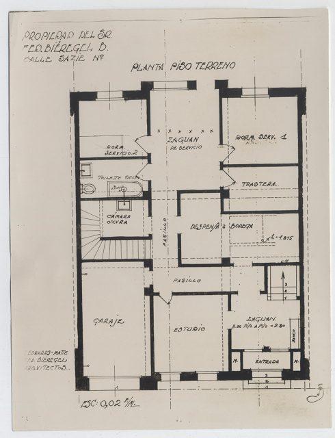 Plano casa Bieregel- Edwards