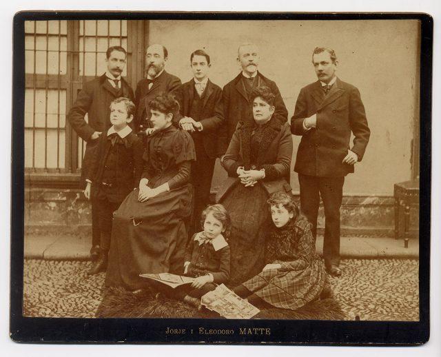 Eduardo Matte con familia y amigos
