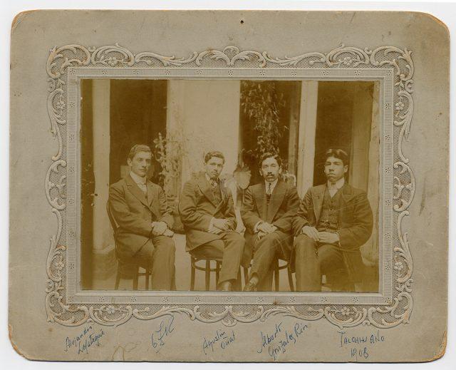 Retrato de cuatro hombres