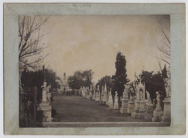 Vista de un cementerio