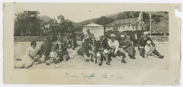 Grupo de personas en playa de Papudo