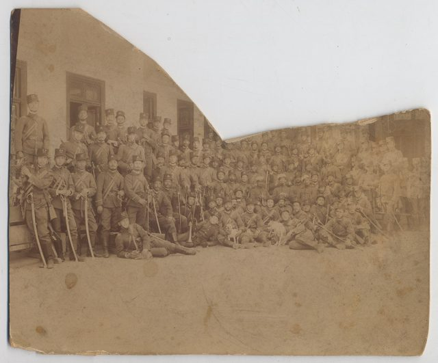 Soldados de caballería de la Guardia Nacional