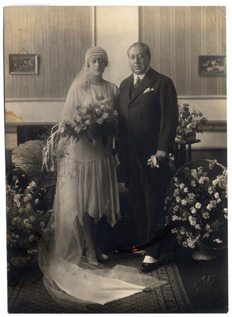 Retrato de una novia con su padre