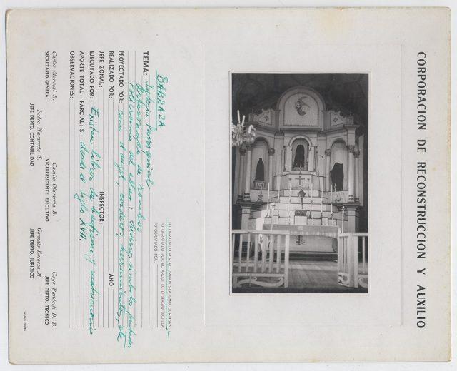Altar de la iglesia de Barraza
