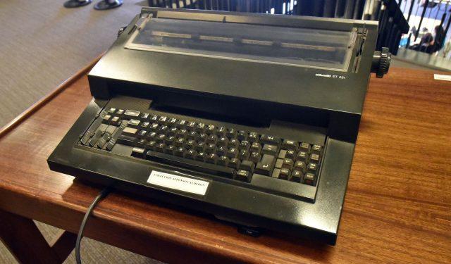 Máquina de escribir de Alfonso Calderón
